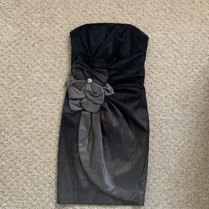 Black/Grey strapless cocktail dress from Cache
